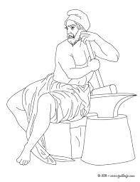 imagenes de zeus para dibujar faciles dibujos para colorear dios hefesto dios griego del fuego y los