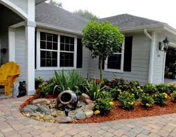 paved pathway for traditional landscaping ideas for small front