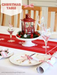 christmas table setting home decor waplag fascinating small cheap