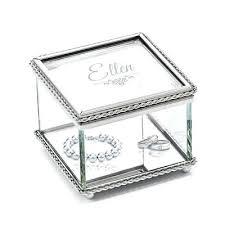 baptism jewelry box baptism jewelry box personalized glass jewelry trinket box for