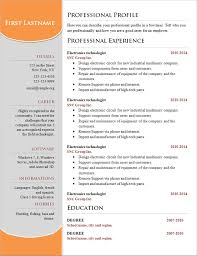 Resume Template On Word 2007 Resume Free Download Template Resume Template And Professional