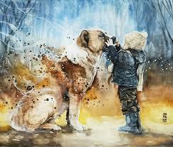 best painting best friend painting by art jongkie watercolor pinterest