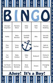 nautical baby bingo cards printable download prefilled