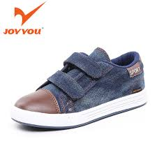 Sho Bayi joyyou brand shoes cow ankle canvas boys school sneakers