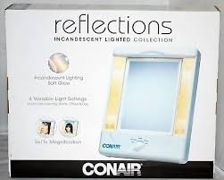 conair two sided makeup mirror with 4 light settings conair two sided mirrors magnifiers lighted makeup mirror with light