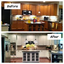 Before And After Kitchen Cabinet Painting Above Kitchen Cabinet Lighting Inspirations And For Cabinets