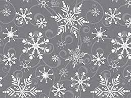 black gift wrapping paper roll swirling snowflakes gray white silver christmas