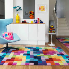 Colorful Modern Rugs New Modern Thick Large Medium Multi Coloured New Zealand Wool