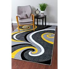Modern Yellow Rug Rugs Modern Trendz Collection Yellow Rug 5 2 X 7 2