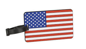 American Flag To Color Amazon Com Travelon American Flag Luggage Tag One Color One