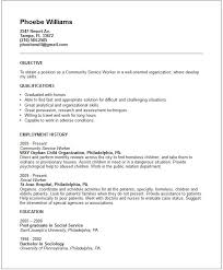 Example Of Social Work Resume by Stunning Community Worker Resume Contemporary Simple Resume