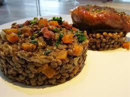 lentilles cuisine lentilles au confit de canard la recette facile par toqués 2 cuisine