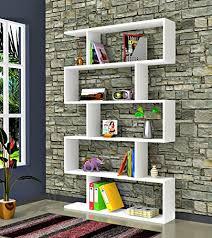 biblioth ue bureau design bibliothèque blanc brillant étagère de rangement
