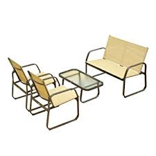 Outdoor Mesh Furniture by Amazon Com Outsunny 4 Piece Aluminum Mesh Outdoor Furniture Set