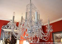 Plastic Chandelier Transform An Ordinary Chandelier With Resin Candle Covers And Silk