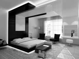 elegant modern bedrooms design with pure white king size