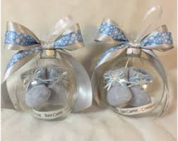 it s a boy ornament with baby booties