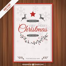 vintage cmyk christmas card template vector free download