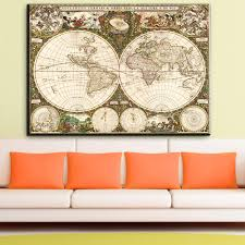 Large Wall World Map by Online Buy Wholesale Large Horizontal Wall Art From China Large
