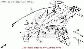 honda z50r 1980 a usa frame ignition coil wire harness