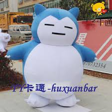 2017 top quality snorlax mascot costume size halloween