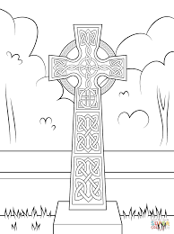 celtic cross with ornament coloring page free printable coloring