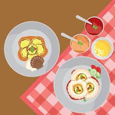 illustration cuisine scallops clam cuisine free vector free vector