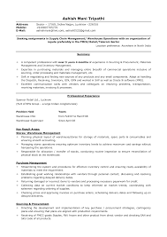 Resume Samples Warehouse Manager by Example Of Cv Information Technology
