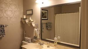 Framed Bathroom Mirror Awesome Bathroom Framed Bathroom Mirrors Diy How To Decorate
