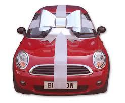 car ribbon silver car bow and ribbon