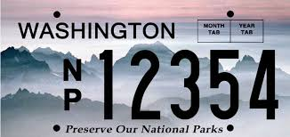 Washington national parks images National park license plates washington 39 s national park fund jpg