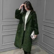 2017 new fashion european style autumn winter wool coat women warm