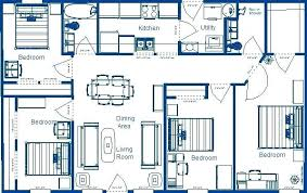 four bedroom floor plans floor plans for 4 bedroom homes processcodi com