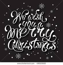 merry greeting card written stock vector 334512869