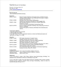 Computer Science Resume Example Internship Resume Template U2013 11 Free Word Excel Pdf Psd