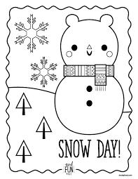 coloring coloring pages snow coloring pages snow