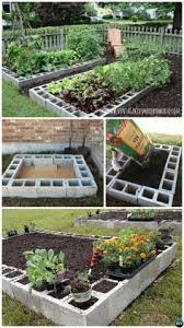 Raised Garden Bed With Bench Seating My Raised Bed Garden Made From Cinder Blocks Gardening