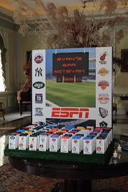 themed place cards espn themed seating card display with sports ticket place cards