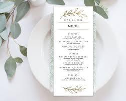 wedding menu template 3 course meal menu templates europe tripsleep co