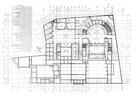 working drawing floor plan cultural centre of garagus working drawing principal level ground