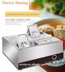 commercial electric food warmer bain marie for restaurant buffet