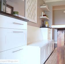 How To Build Banquette Bench With Storage Diy Projects Banquettes Refrigerator Cabinet And Refrigerator