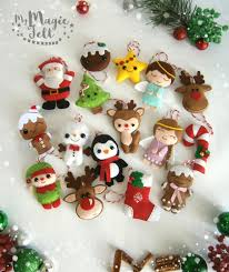 christmas ornaments felt set of 16 ornament christmas felt decor