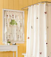 bathroom window curtains and matching shower curtains bathroom