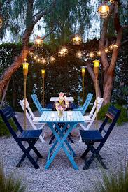 Patio Lighting Ideas by Preety Patio Lighting Ideas With Nice Table And Single Chair On