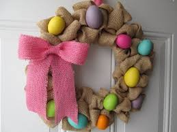 Diy Burlap Easter Decorations by 84 Best Burlap Easter Decorations Images On Pinterest Easter