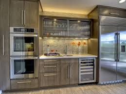 Kitchen Cabinets With Frosted Glass Doors Dark Wood Cabinet With Glass Doors Monsterlune