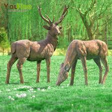 size antique garden ornaments bronze deer sculpture buy