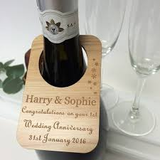 anniversary wine bottles personalised wedding anniversary wine bottle label by hickory