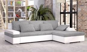 Grey Corner Sofa Bed Bancroft Corner Sofa Bed With Storage White And Grey High